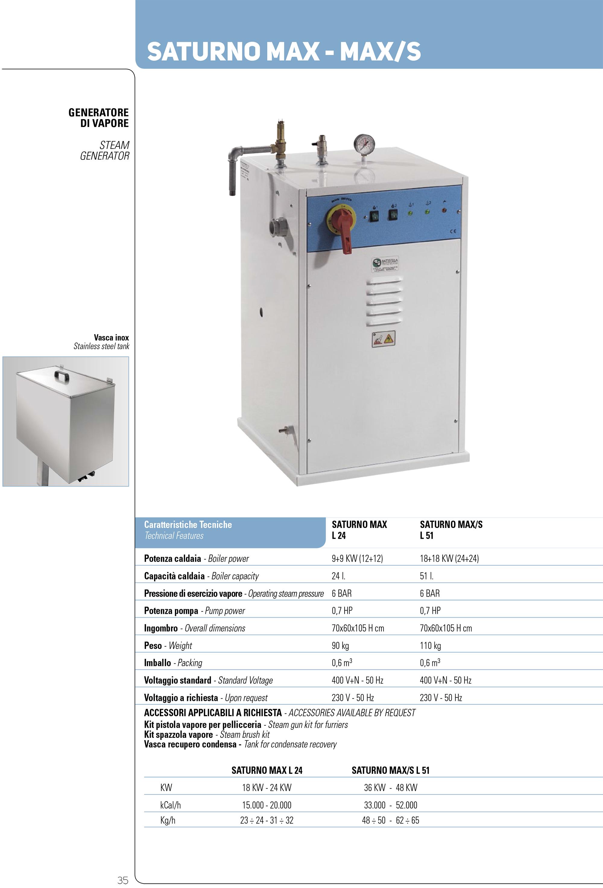 battistella saturnoMAX generator de abur industrial