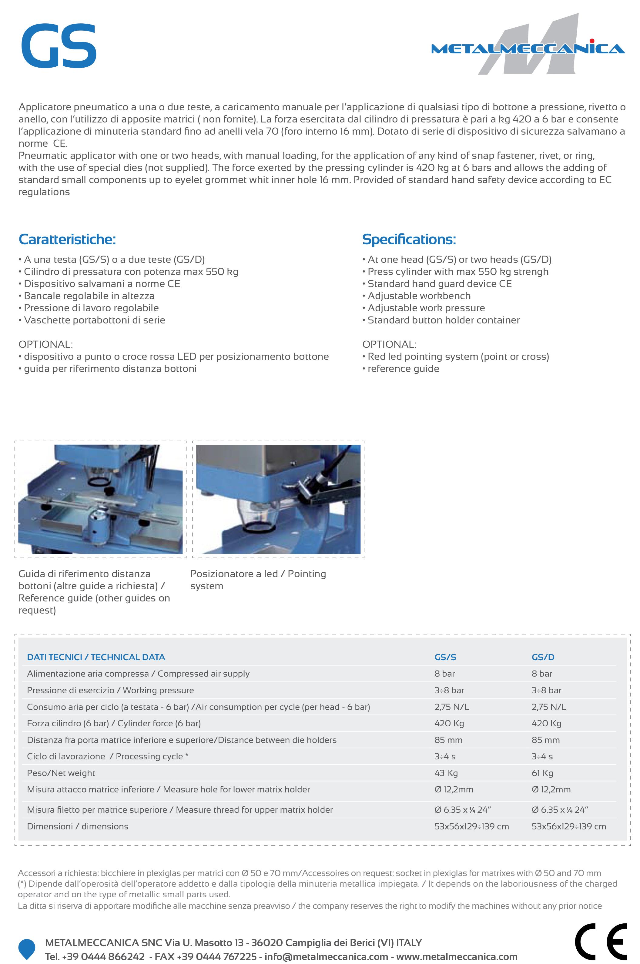 gs capsator metalmeccanica pneumatic