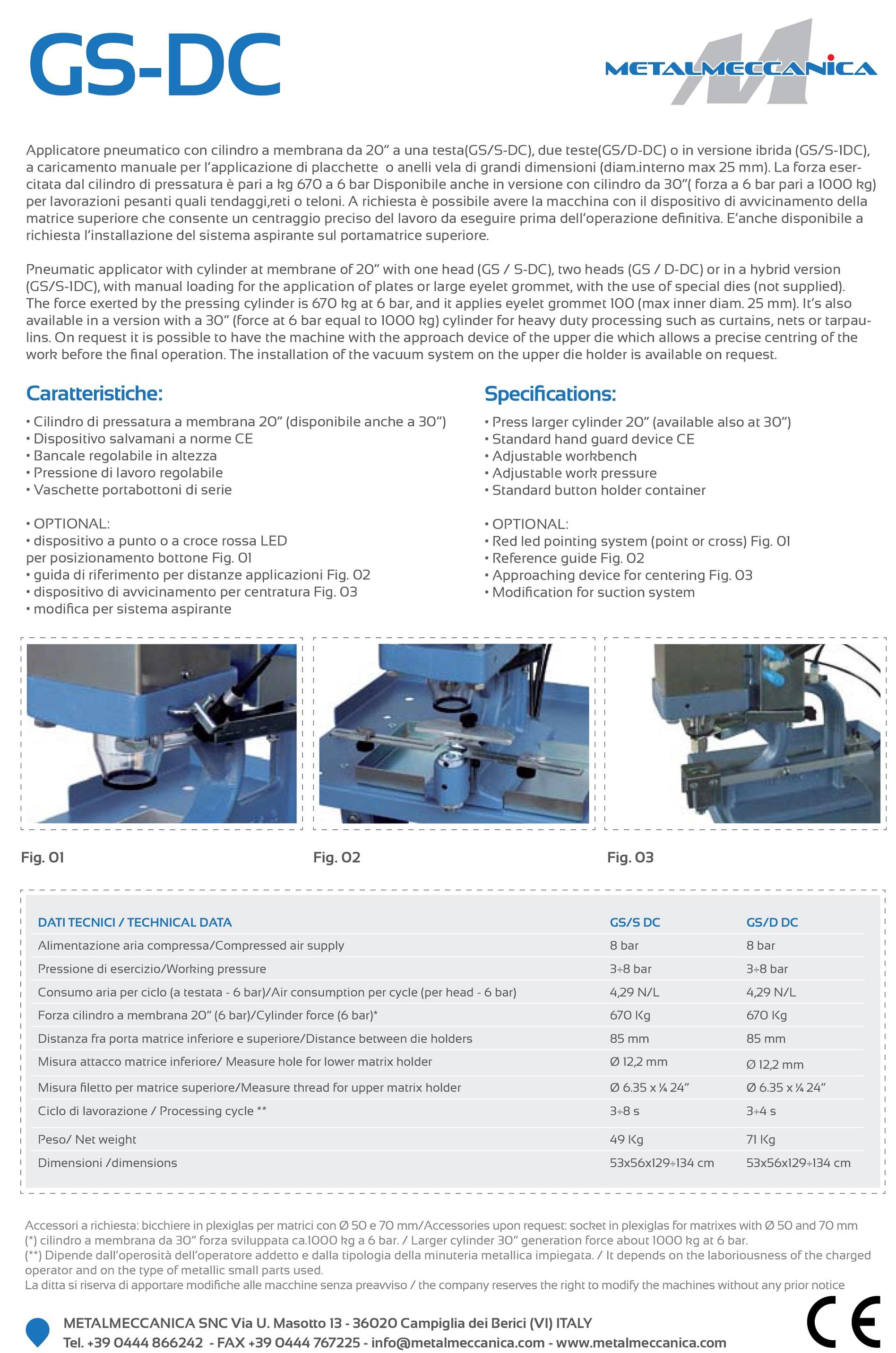 gsdc capsator metalmeccanica pneumatic